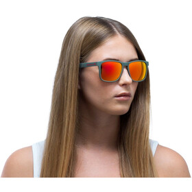 Red Bull SPECT Leap Lunettes de soleil, olive green/brown-red